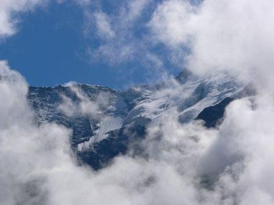 photo montagne alpes randonnée tour du mont blanc tmb kora glaciers nuages