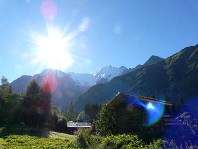photo montagne alpes randonnée tour du mont blanc tmb kora col de voza aiguille du goûter bionnassay