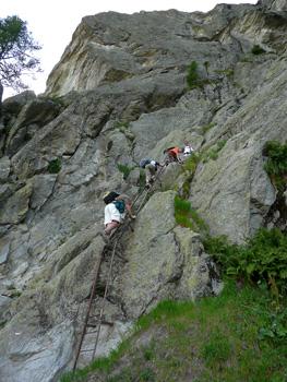 photo montagne alpes randonnée tour du mont blanc tmb kora lac blanc échelles
