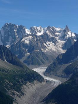 photo montagne alpes randonnée tour du mont blanc tmb kora lac blanc mer de glace grandes jorasses