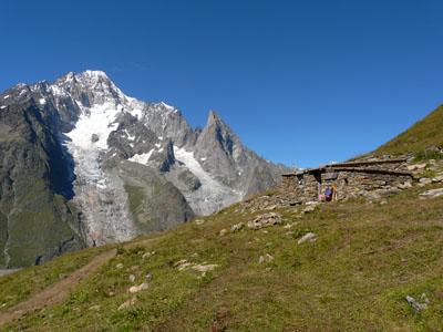 photo montagne alpes randonnée tour du mont blanc tmb kora glacier arp vieille