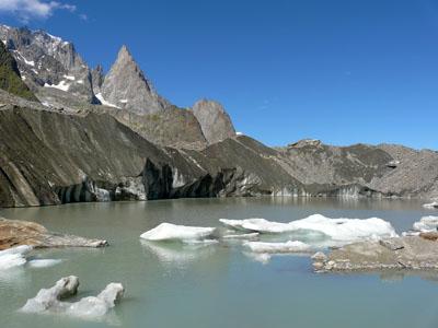 photo montagne alpes randonnée tour du mont blanc tmb kora glacier lac miage glacier