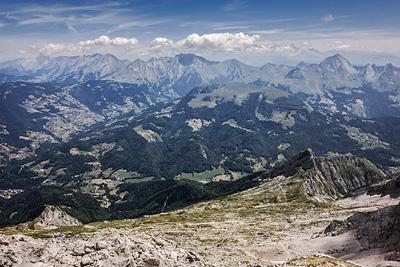 photo montagne alpes bornes aravis tournette sommet