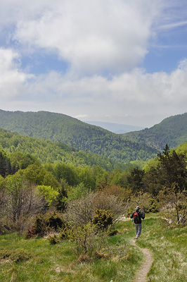photo montagne alpes diois baronnies trois becs descente