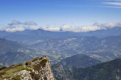 photo montagne alpes diois baronnies trois becs vue