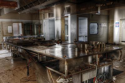 photo urbex sanatorium hôpital hôpitaux cuisine