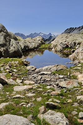 photo montagne alpes beaufortain mont blanc randonnée vallee glaciers lac