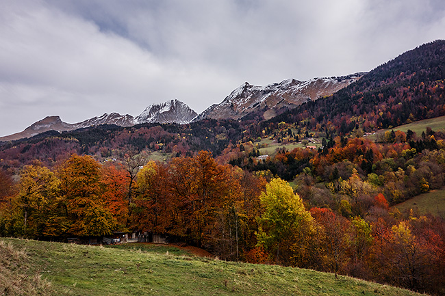 photo montagne alpes savoie aravis velo col epine