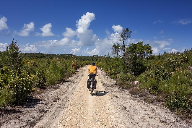 photo vélo tour de la gironde vélodysée andernos carcans
