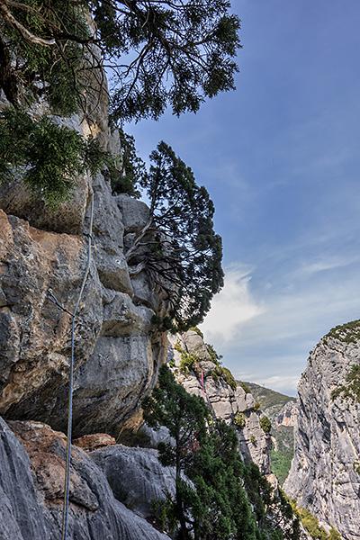 photo montagne alpes escalade grande voie gorges verdon escales point sublime derobee
