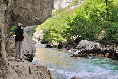 photo montagne alpes gorges verdon sentier imbut