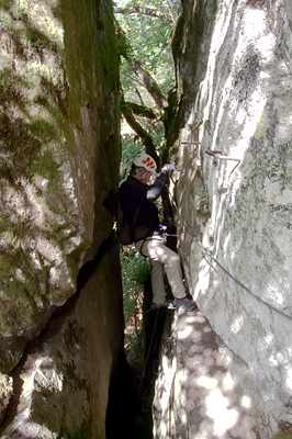 photo montagne via ferrata aveyron aubrac bois baltuergues