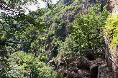photo montagne via ferrata aveyron aubrac bois baltuergues