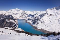 Lac de Roselend et Mont Blanc